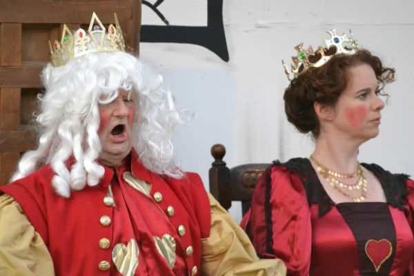 The King and Queen of Hearts at the Trial - Off with his head!